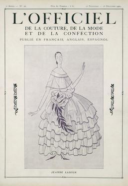 L'Officiel, November-December 1922 by Jeanne Lanvin