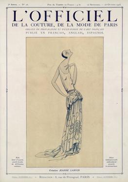 L'Officiel, September-October 1923 - Création Jeanne Lanvin by Jeanne Lanvin
