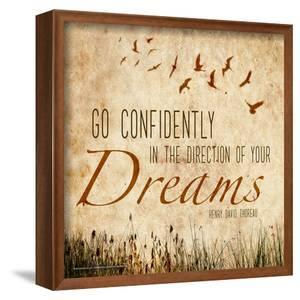 Go Confidently - Henry David Thoreau Classic Quote by Jeanne Stevenson