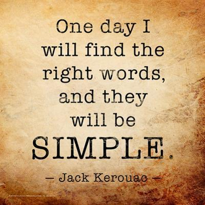 One Day - Jack Kerouac Classic Quote by Jeanne Stevenson