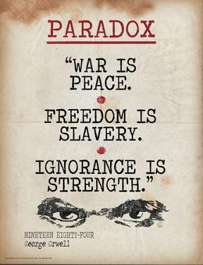 Paradox (Quote from Nineteen Eighty-Four by George Orwell) by Jeanne Stevenson