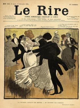 Dancing Couples, from the Front Cover of 'Le Rire', 17th December 1898 by Jeanniot