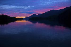 A Stunning Colorful Sunset on the British Columbia Coast by Jed Weingarten