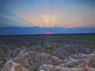 Shafts of Light Radiate from a Stunning Sunrise