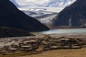 Village at 15,000 Feet, Threatened by Global Warming Melting Glacier by Jed Weingarten