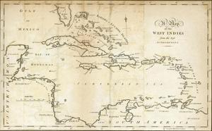 Map of the West Indies, c.1794 by Jedidiah Morse
