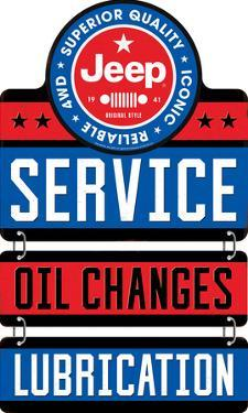 Jeep Service Linked Tin Sign