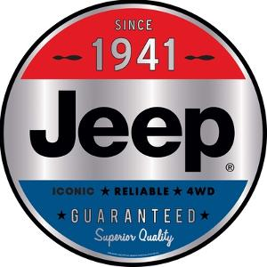Jeep Tin Sign with Knock Out