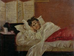 Arthur Rimbaud in His Bed in Brussels by Jef Rossman
