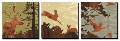 Bird, Bunny, Deer II by jefdesigns