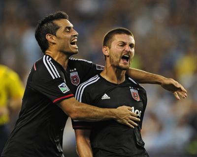 Aug 23, 2014 - MLS: D.C. United vs Sporting KC - Fabian Espindola, Perry Kitchen