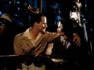 Jeff Daniels and Mia Farrow PURPLE ROSE OF CAIRO, 1985 directed by WOOD Y ALLEN (photo)