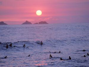 Beach at Sunset, Rio de Janeiro, Brazil by Jeff Dunn