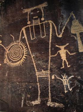 Petroglyph on Rock by Jeff Foott