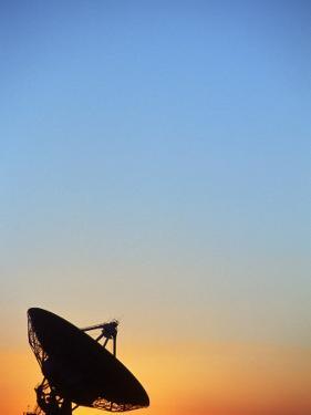 Silhouette of Radio Telescopes, New Mexico by Jeff Friedman