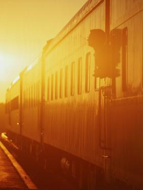 American Orient Express Train, BC, Canada by Jeff Greenberg