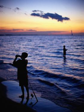 Boys Fishing, Lake Erie, OH by Jeff Greenberg
