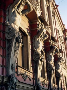 Detail of Building, St. Petersburg, Russia by Jeff Greenberg