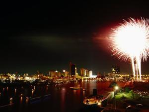 Labor Day Festival Fireworks, Maumee River by Jeff Greenberg