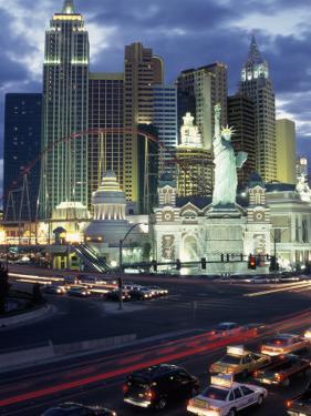 Ny Ny Hotel Casino and Roller Coaster, Las Vegas by Jeff Greenberg