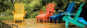 Muskoka Chairs, Nova Scotia by Jeff Maihara