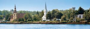 Three Churches, Mahone Bay, Nova Scotia by Jeff Maihara