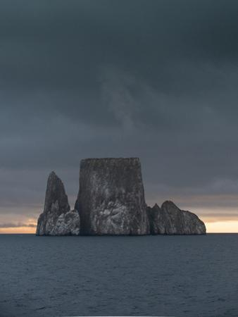 Sunset over Kicker Rock or Leon Dormido Part of the Galapagos Islands, Ecuador by Jeff Mauritzen