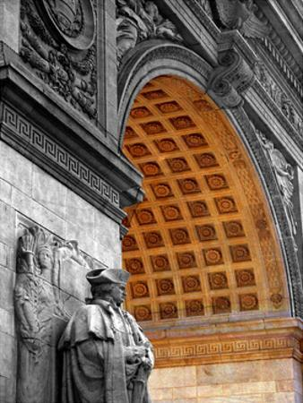 Washington Square Arch BWC 1 by Jeff Pica