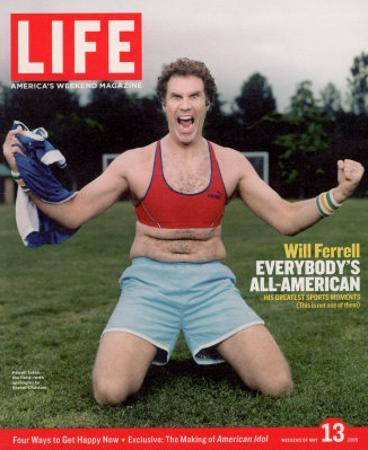Comic Will Ferrell Outside in Freeway Park Doing a Bad Imitation of Brandi Chastain, May 13, 2005
