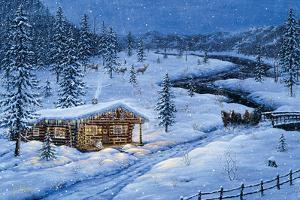 Winter Cabin by Jeff Tift