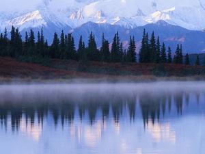 Alaskan Range Reflected in Wonder Lake by Jeff Vanuga