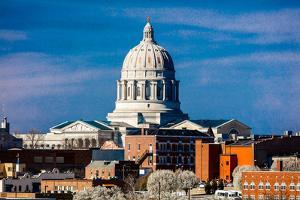 JEFFERSON CITY - MISSOURI - Missouri state capitol building in Jefferson City