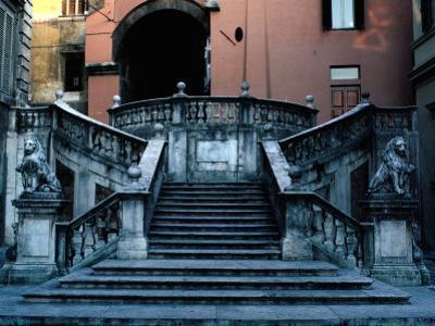 Marble Renaissance Staircase in Spoleto, Spoleto,U mbria, Italy