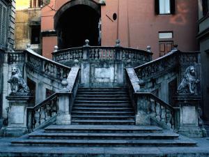 Marble Renaissance Staircase in Spoleto, Spoleto,U mbria, Italy by Jeffrey Becom