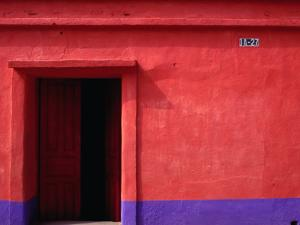 Painted Stucco House Facade, Momostenango, Totonicapan, Guatemala by Jeffrey Becom