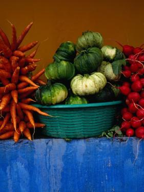 Roadside Vegetable Stall Near Los Encuentros,Solola, Guatemala by Jeffrey Becom