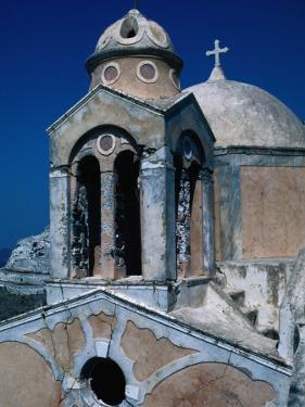The Crumbling Chapel Overlooking the Aegean Sea, Santorini Island, Greece by Jeffrey Becom