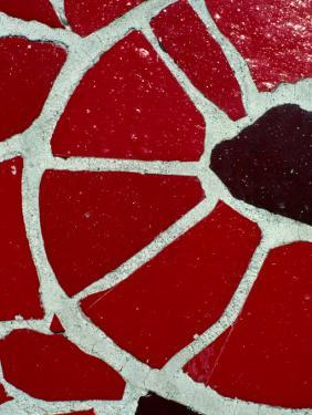Tile Detail from Antonio Gaudi's Guell Park, Barcelona, Catalonia, Spain by Jeffrey Becom