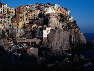 """Views of Cliff-Top Village from Via Dell"""" Amore, Manarola, Italy by Jeffrey Becom"""