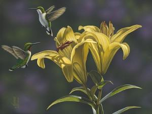 Yellow Lilies by Jeffrey Hoff