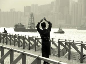 Tai Chi Practiced Along Victoria Harbor, Hk, China by Jeffrey Rotman
