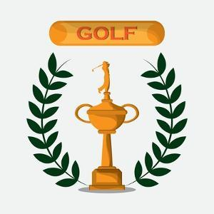 Gold Design. Sport Icon. Colorfull Illustration, Graphic by Jemastock