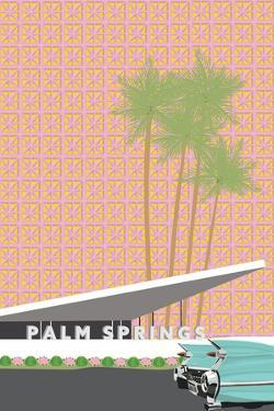 Palm Springs With Convertible by Jen Bucheli