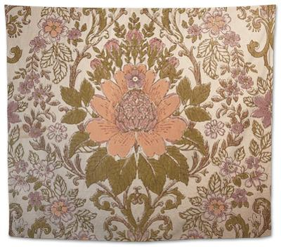Vintage Wallpaper Interior with a Regal Floral Design by Jena Ardell