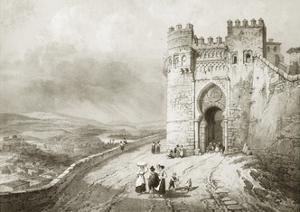 City Gate in Toledo by Jenaro Perez Villaamil