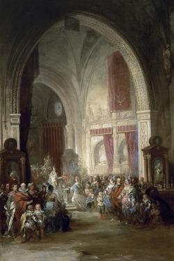 Interior De La Catedral De Toledo, 1850 by Jenaro Perez Villaamil
