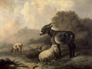 Paisaje Con Animales, Hacia 1844 by Jenaro Perez Villaamil