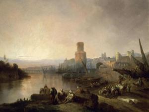 Sevilla En Tiempos De Los Arabes, 1848 by Jenaro Perez Villaamil