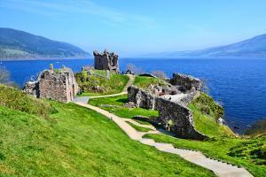 Castle Ruins along Loch Ness by Jeni Foto