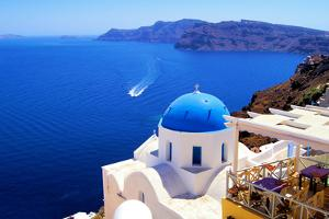 Churches of Santorini by Jeni Foto